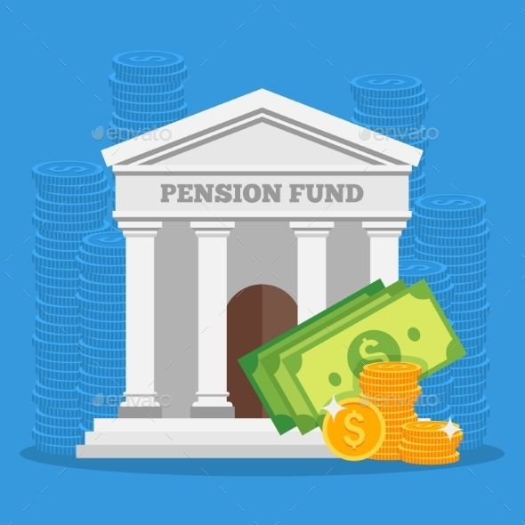 Pension Fund Concept Vector Illustration In Flat