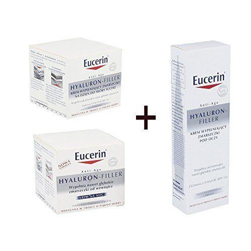 Eucerin Hyaluron Filler SET Night Cream 50ml  Day Cream 50ml  Eye Cream 15ml * For more information, visit image link.
