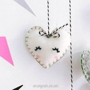 HEART MOBILE - DIY Heart Felt mobile STEP 7