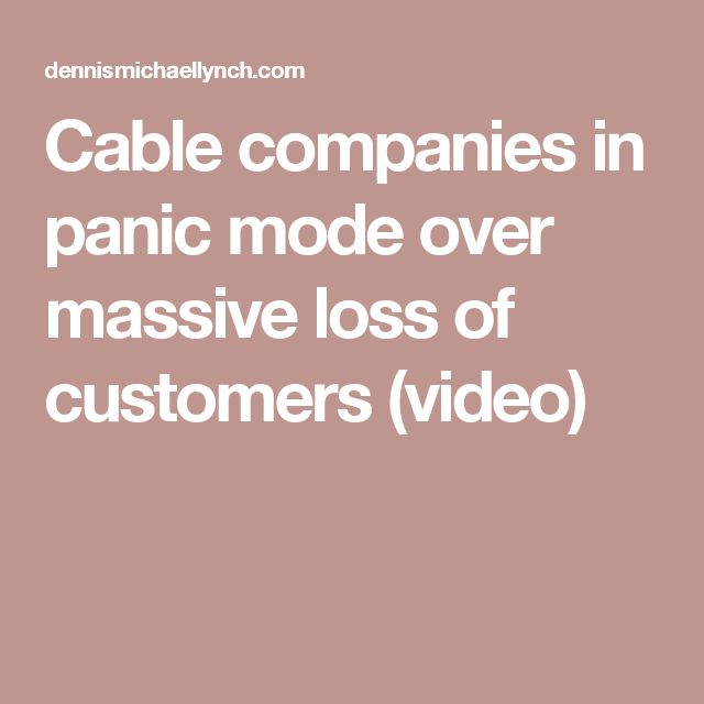 Cable companies in panic mode over massive loss of customers (video)