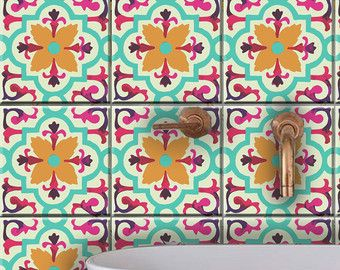 Kitchen/ bathroom Turkish tile/wall decals 22designs di Bleucoin