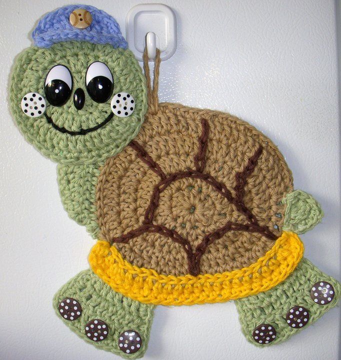 Crochet Turtle, by Jerre Lollman..... #crochet_inspiration ......