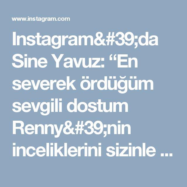 """Instagram'da Sine Yavuz: """"En severek ördüğüm sevgili dostum Renny'nin inceliklerini sizinle de paylaşmak istedim. . Örerseniz paylaşımlarınızda benim de kulaklarımı…"""""""