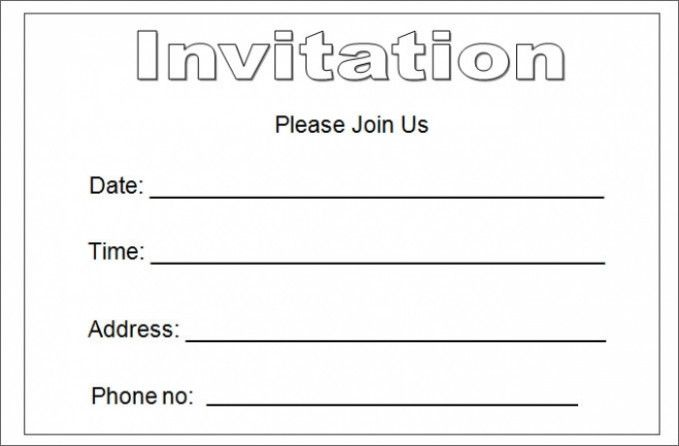 15 Stereotypes About Blank Invitation Template For Word That Aren T Always True Blank Invit