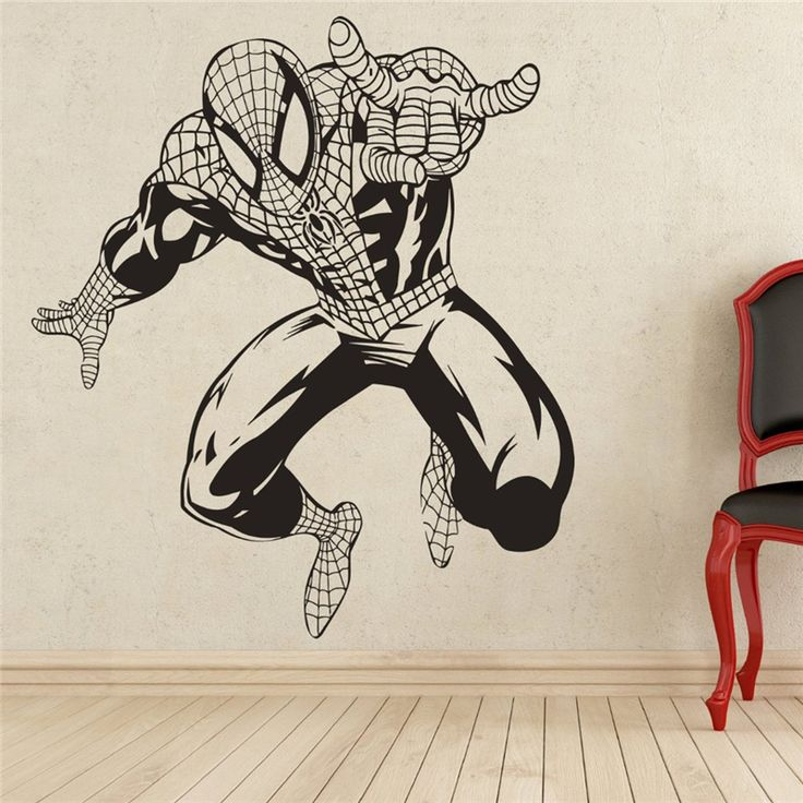 Spiderman Wall Decal Superhero Vinyl Sticker Wall Decor Removable Waterproof Decal X130 #Affiliate