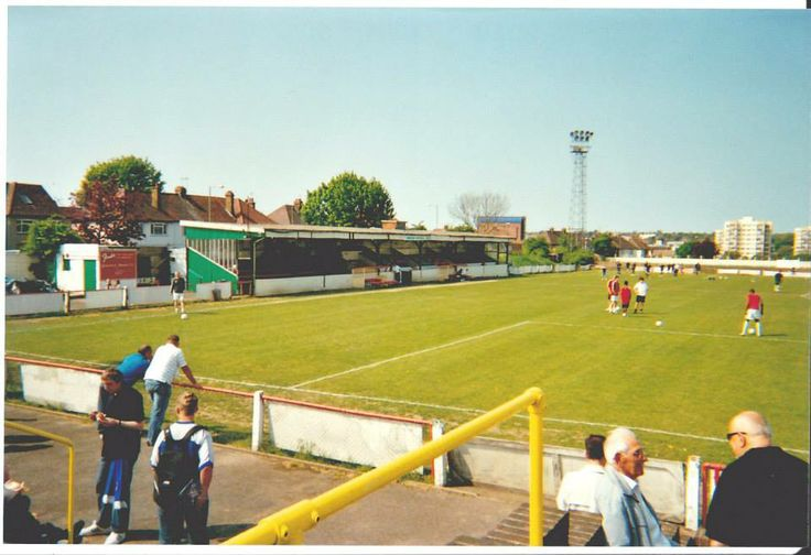 Views of the seated stand from the tea hut. You can smell the Hogey Burgers from this photo.
