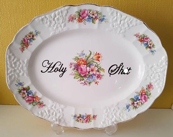Check out this item in my Etsy shop https://www.etsy.com/uk/listing/527619182/holy-shit-plate-large-cake-or-display
