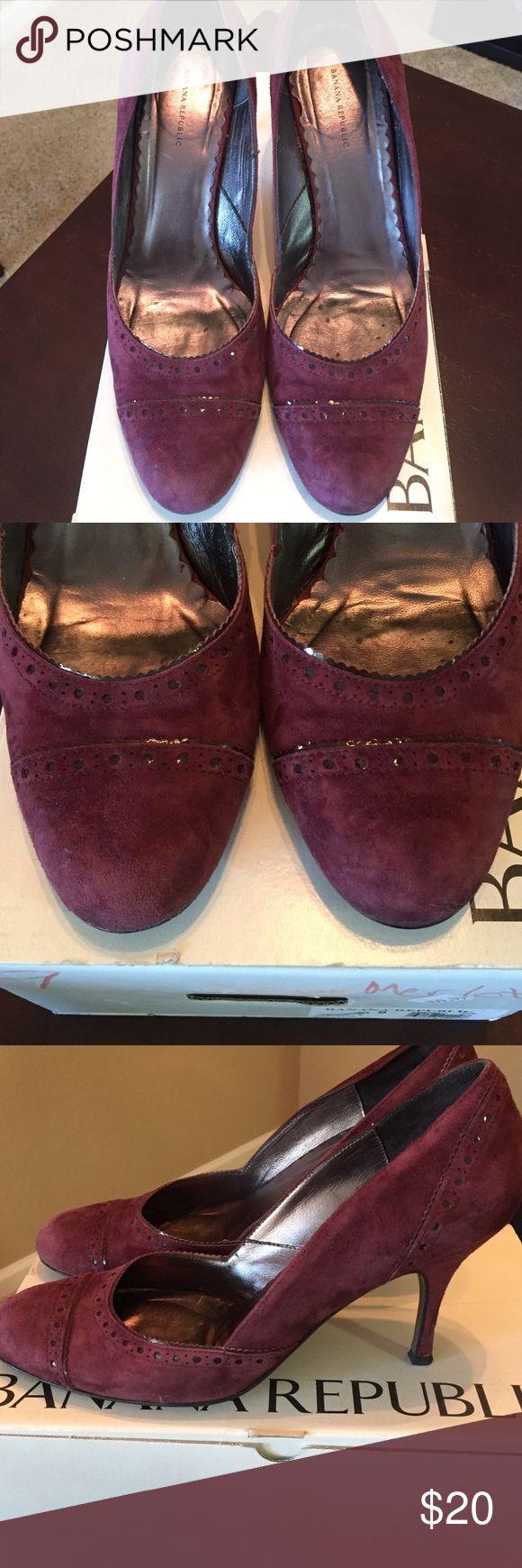 Banana Republic Suede Merlot Heels Banana Republic Merlot Suede Heels- Sz 9.  With original box, great condition. Banana Republic Shoes Heels