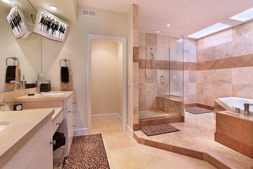 I like marble bathrooms.