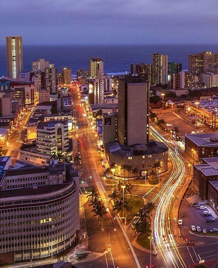 #Durban city at night! Pic: @hstone2003 #5stardurban #citylights by 5stardurban