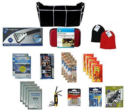 Auto Winter Emergency in Storage Bag 25-piece Bundle with Heated Ice Scraper/Emergency Blankets/Stocking Caps/Glove/Hex Key Ring Set/Jumper Cables/Ponchos/and more. For product info go to:  https://www.caraccessoriesonlinemarket.com/auto-winter-emergency-in-storage-bag-25-piece-bundle-with-heated-ice-scraperemergency-blanketsstocking-capsglovehex-key-ring-setjumper-cablesponchosand-more/