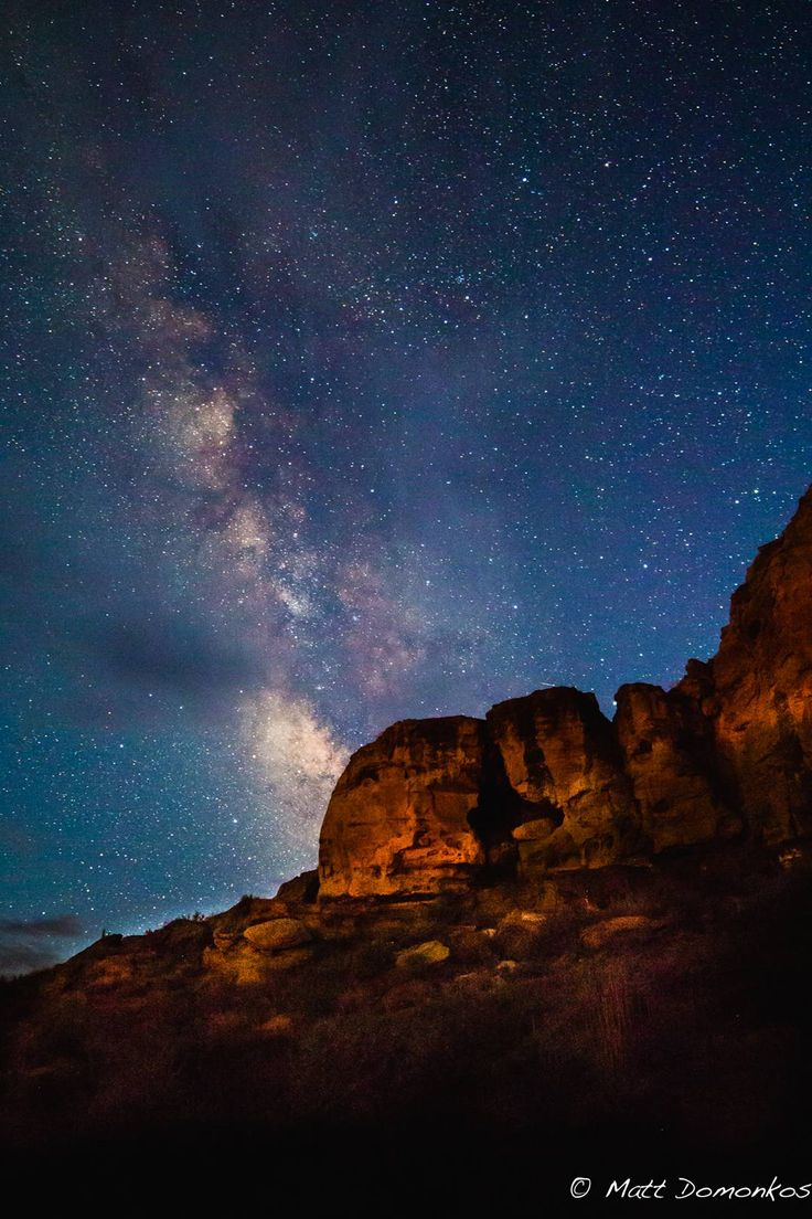 Night sky over Chaco Canyon taken by mdomonkos [1077x1616]
