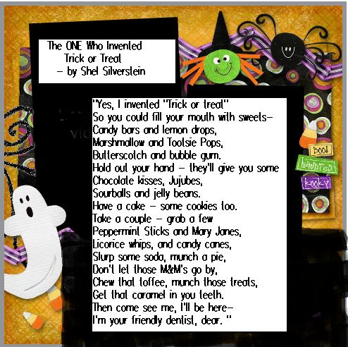 The ONE Who Invented Trick or Treat by shel silverstein - fun #halloween poem for kids