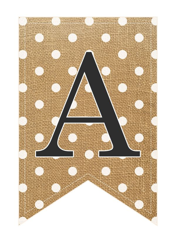 The Cottage Market: Free Printabe COMPLETE Alphabet and Number Burlap Banner