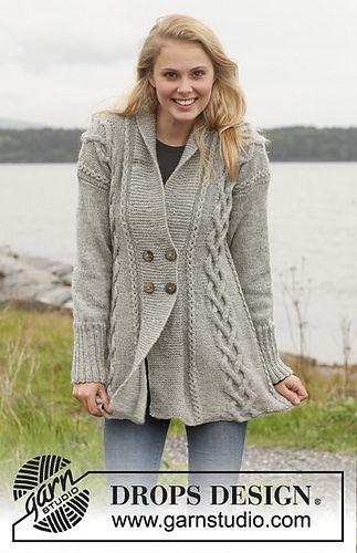 Gwendolen - Jacket with Cables and Shawl Collar www.garnstudio.com