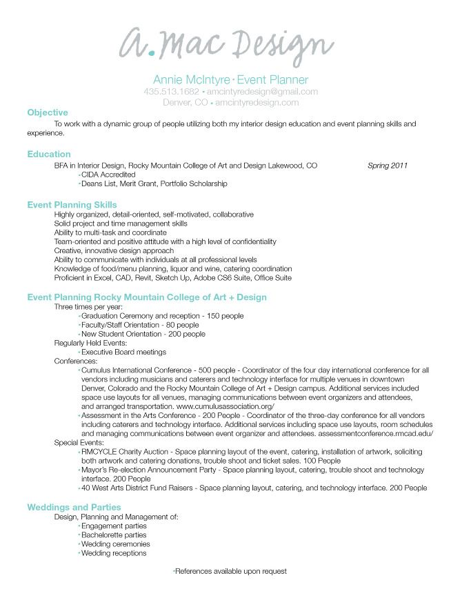 Best Resume Ideas For Event Planner Images On