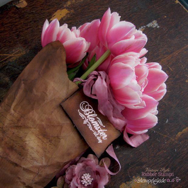 Vintage Flower Wrapping - Gunhild J. G. Bay - Stempelglede :: Design Team Blog