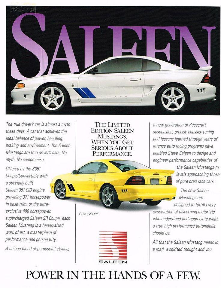 1995 Saleen Mustang Brochure Original