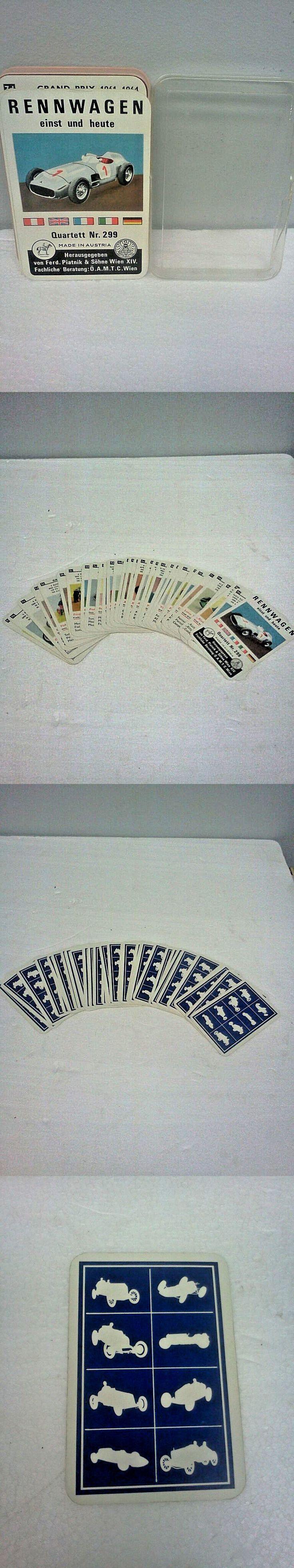 Card Games 165968: Vtg Einst Und Heute Quartett Nr.299 Racing Cards Austria Ferd.Piatnik And Sohne -> BUY IT NOW ONLY: $74.95 on eBay!