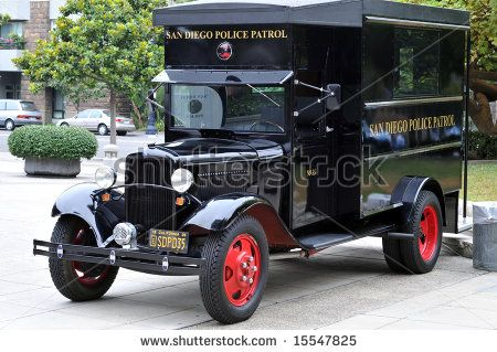 SAN DIEGO, CA - JULY 30th: 1935 Vintage police paddy wagon at a S.D.P.D. Historical Society open house. by justasc, via ShutterStock