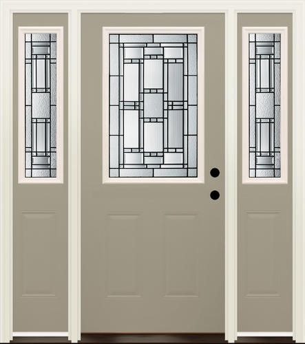 Mastercraft venice 36 x 80 prefinished steel door w 14 for Mastercraft storm doors