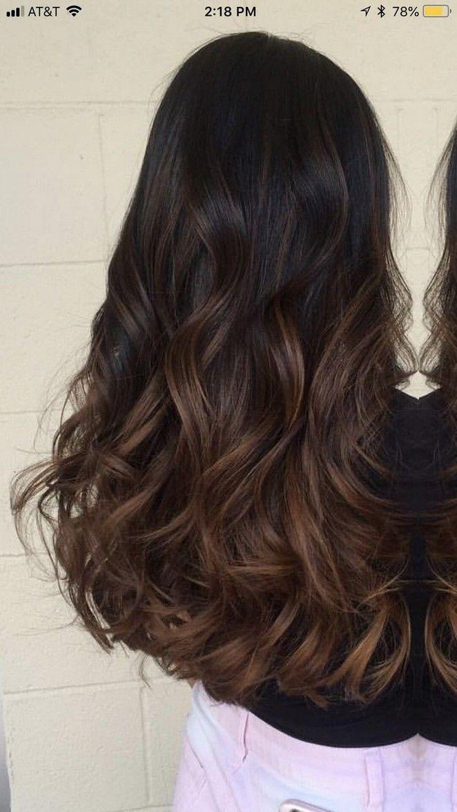 40 top balayage for dark hair black and dark brown hair
