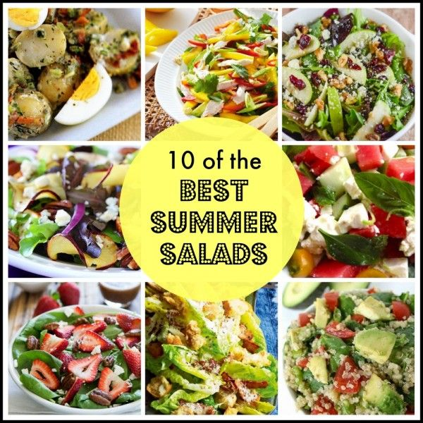 We've put together ten of the best Summer Salad recipes to give you some recipe inspiration and help you make the most of this gorgeous time of the year.