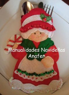 ¡Gracias por visitar mi blog! Molde cucharones con muñecos Molde Perrito Navideño ...