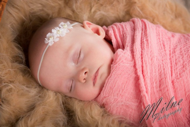 Newborn Baby Flower Headband in White Perfect by crystalandtaylor