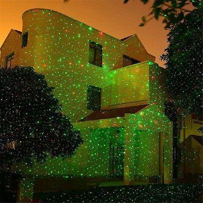 Jardin D'extérieur Étanche Étoile Projecteur Laser Jeux De Lumières Maison Noël
