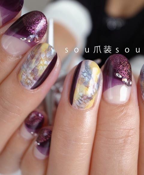 「 マーガレット ~ステンドグラス~ 」の画像|nail salon 爪装 ~sou-sou~ (入間・狭山・日高・飯能 自宅ネイルサロン)|Ameba (アメーバ)