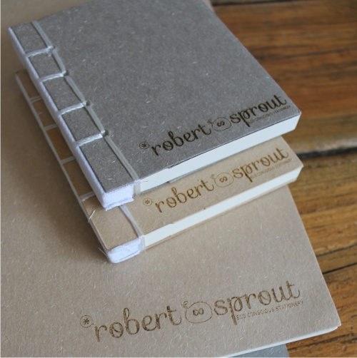 Eco friendly cotton bound notebooks www.robertsprout.co.za