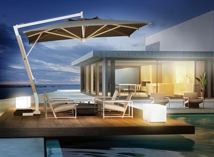 Die besten 25+ Sonnenschirm terrasse Ideen auf Pinterest - sonnenschirm balkon terrasse