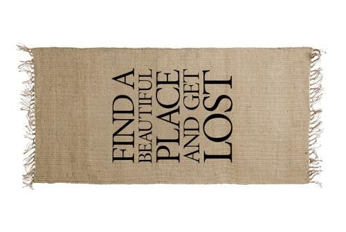 "Tapis en Jute Bloomingville - ""Find a beautiful place"""