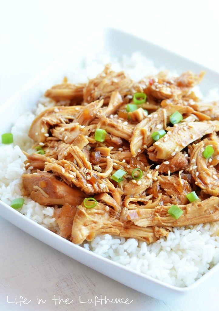 Crock Pot Honey Sesame Chicken | Something Savory | Pinterest