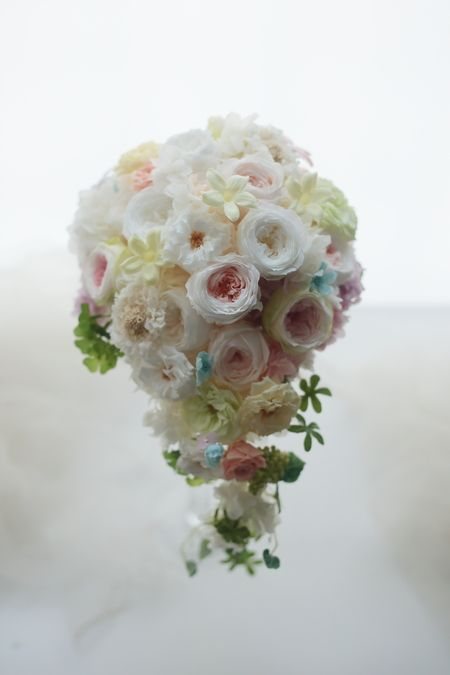 結婚式後のブーケの保存について 八芳園の花嫁様へ フレーム加工 : 一会 ウエディングの花