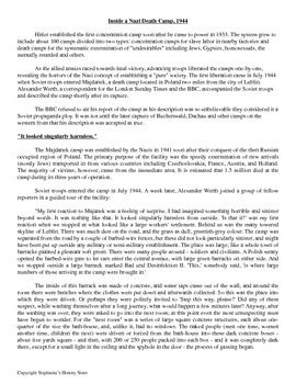 This activity has students reading a 2 page selection from Eyewitness to History regarding the liberation of Majdanek Concentration Camp from the perspective of a journalist. They then have 6 questions to answer (answers included) of varying difficulty. GREAT FOR A SUB! Find this and more at Stephanie's History Store on Teachers Pay Teachers.