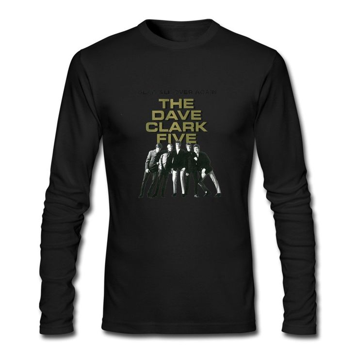 HUIMIN Men's The Dave Clark Five Long Sleeve T-shirt M Black. 100% Cotton. Digital Direct Printing,eco-friendly Ink. Machine Wash Without Fade. Fast Delivery To Your Door. Available Product Customization Service.