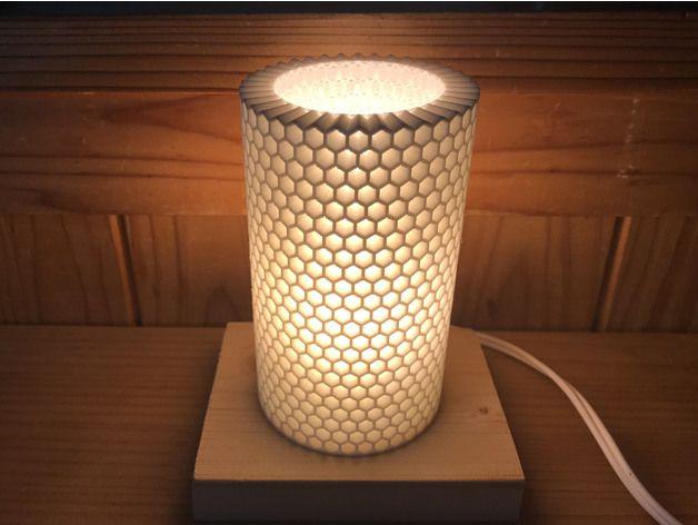 Small Honeycomb Lamp Shade Remix By Tada3 Thingiverse Lamp Shade Lamp Honeycomb