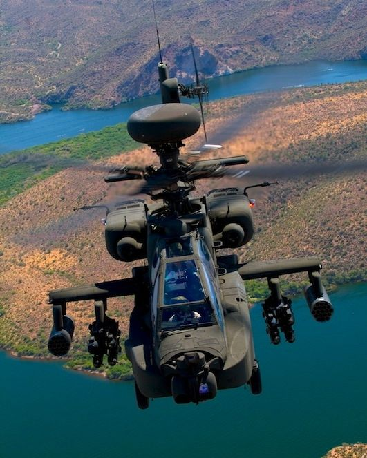 Boeing AH-64E Apache attack helicopter.