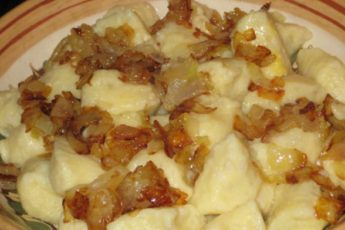 Картофельные галушки по-закарпатски
