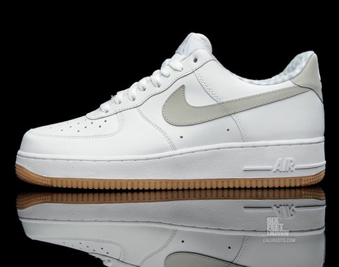Nike Air Force 1 White/Tech Grey-Gum