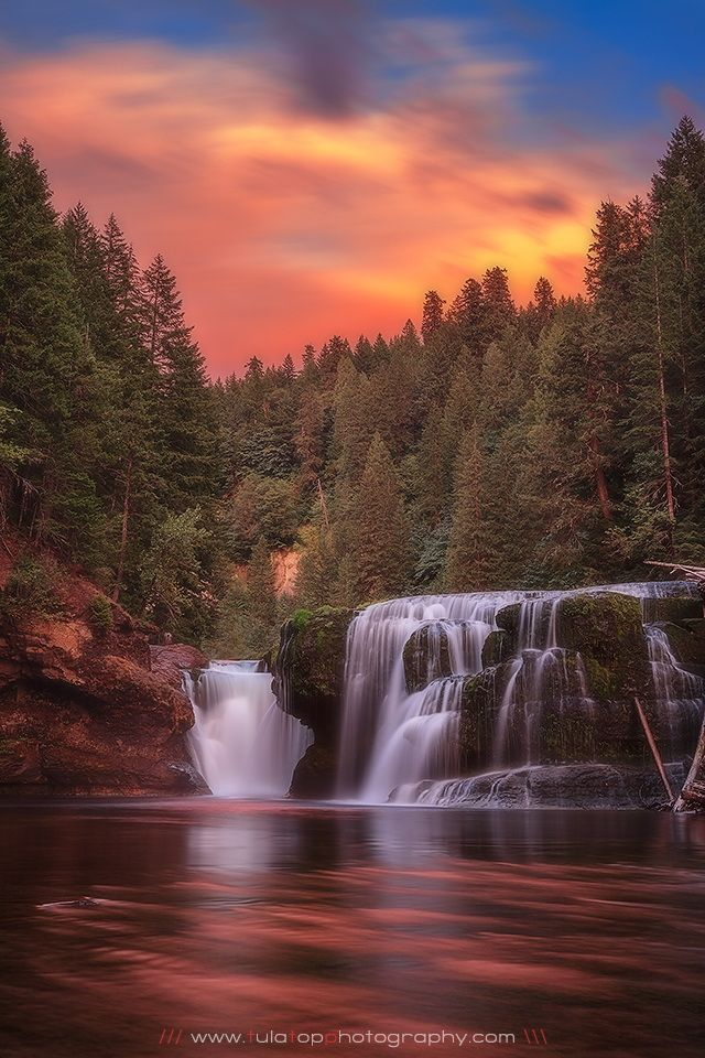 Lower Lewis River Falls, Lewis River, Gifford Pinchot National Forest, Cougar, Washington; photo by .Tula Top on 500px