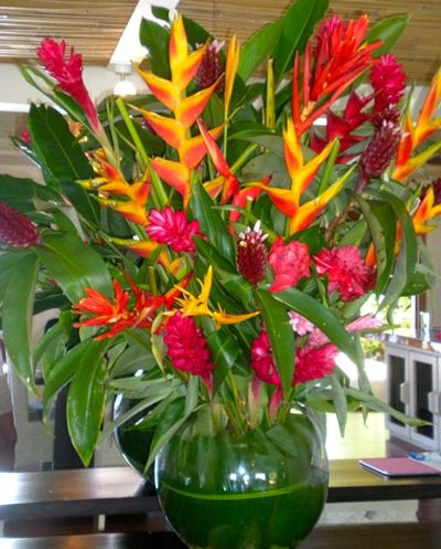 Tropical Centerpieces Ginger Jade Wedding Ideas But