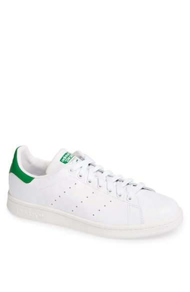 Free shipping and returns on adidas 'Stan Smith' Sneaker (Men) at Nordstrom.com. Perforated stripes detail the sides of an iconic tennis shoe updated in rich leather and finished with a contrasting logo overlay at the heel.