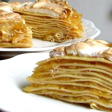 Hungarian Apple Meringue Pancake Torte - Almas Palacsinta - © 2009 Barbara Rolek licensed to About.com, Inc.