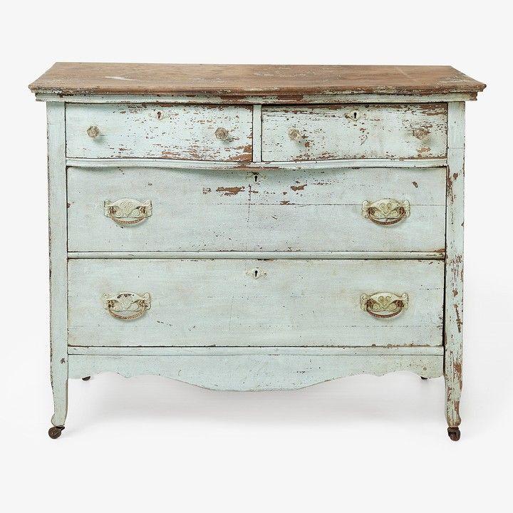 America Vintage Caster Dresser Pale Blue