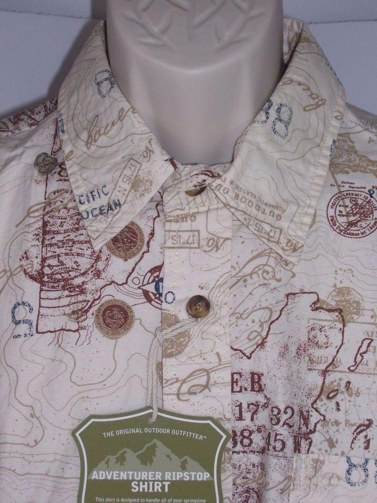 Eddie Bauer Sport Shop Seattle Est 1920 Size M Original Outdoor Outfitters Shirt #EddieBauer #ButtonFront