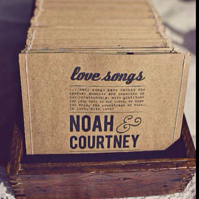 The cutest favours! A playlist on each CD for wedding guests of the bride and grooms favourite songs!