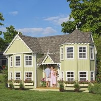 Luxury Little Cottage Sara Victorian x Mansion Wood Playhouse